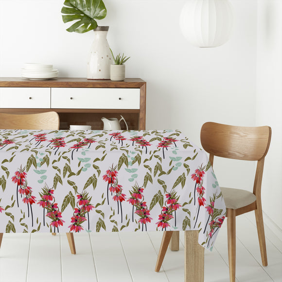 Lovely lilies flowers and leaves Rectangle Tablecloths
