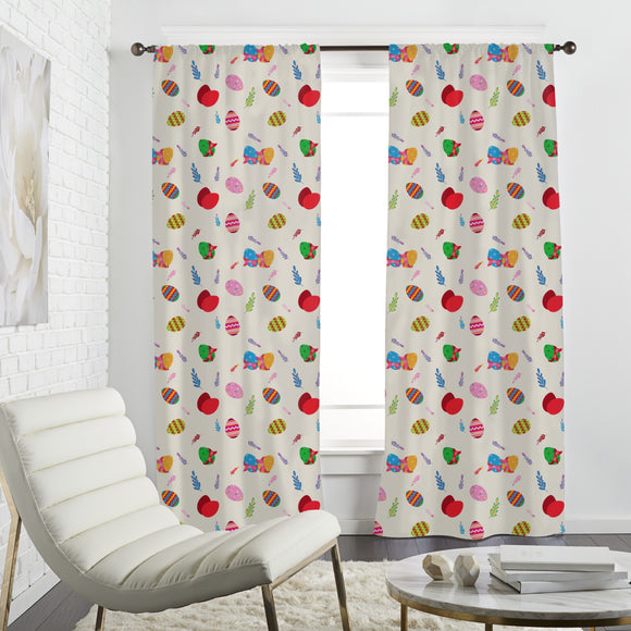 Ornate Easter Eggs Curtains