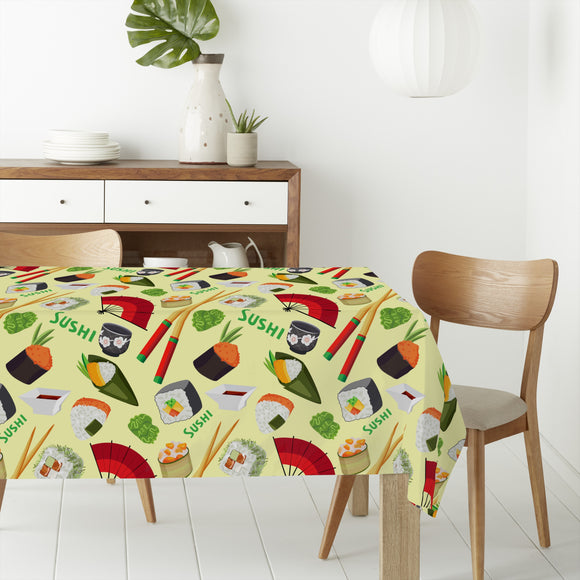 Sushi Love Rectangle Tablecloths