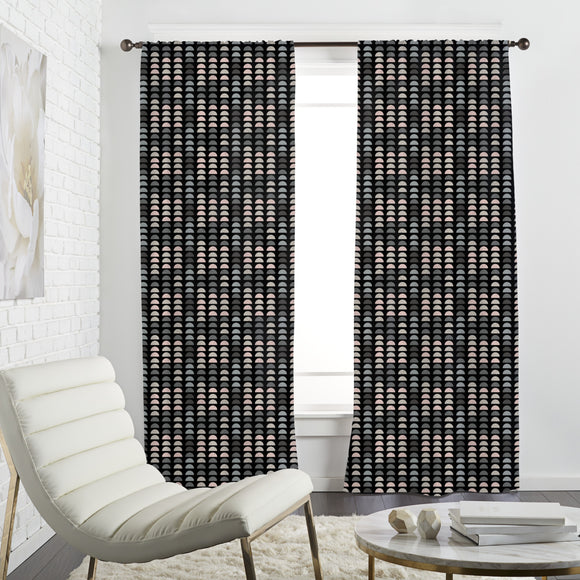 Retro with semi circles  Curtains
