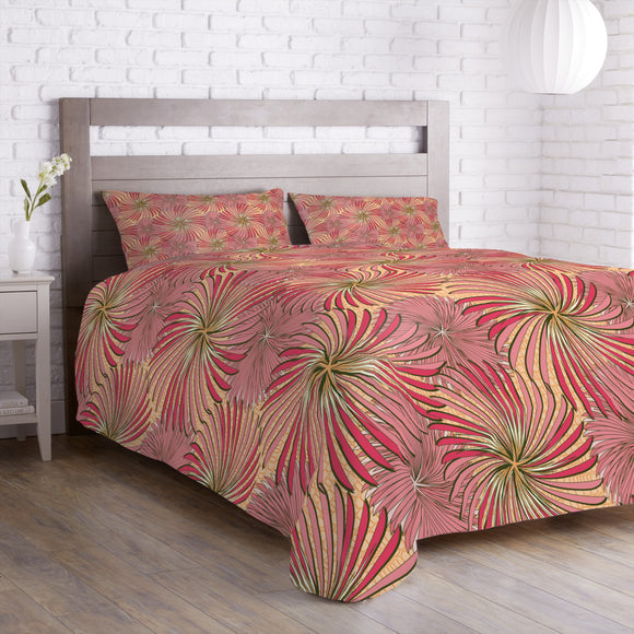 Turning Wheels Apricot Duvet