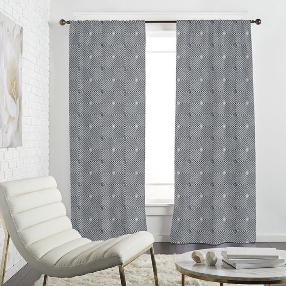 Ikat Rhombuses Curtains