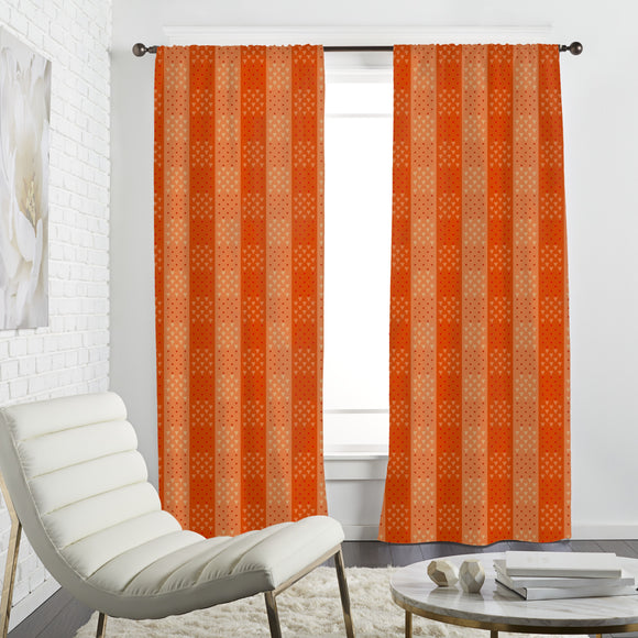 Squares of Triangles and Dots Curtains