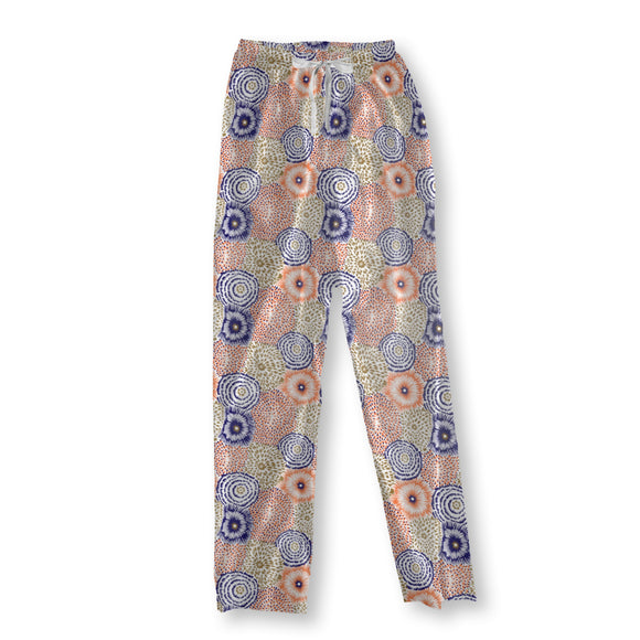 Mixture of Colorful Blossoms Pajama Pants