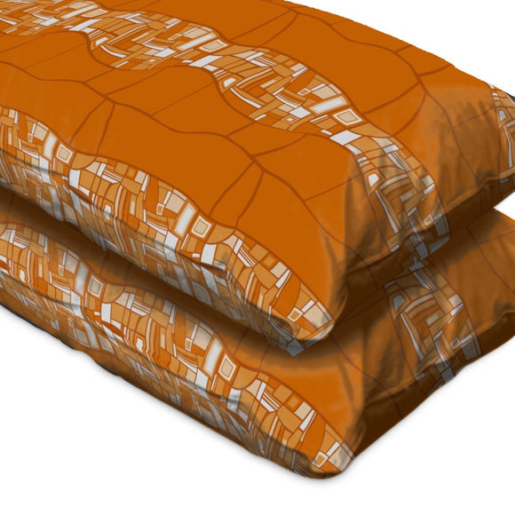 Stilismo Orange Pillow Case