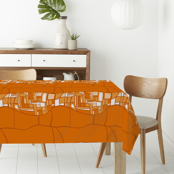 Stilismo Orange Rectangle Tablecloths