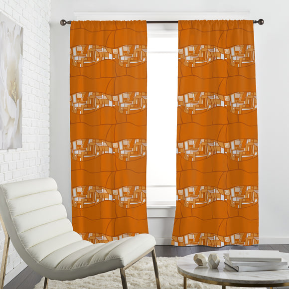 Stilismo Orange Curtains