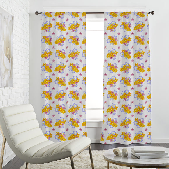 Floral Arrangement Curtains