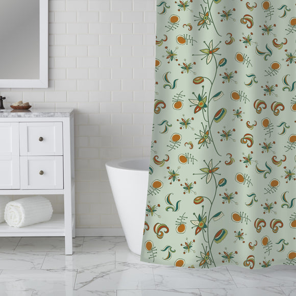 Ornate Nature Shower Curtain