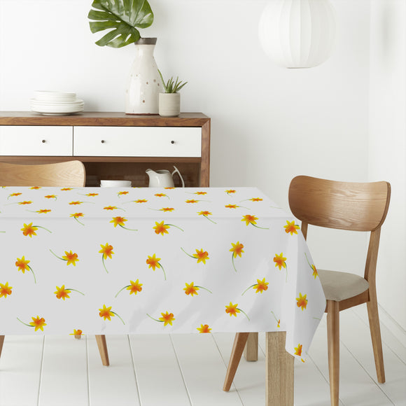 Delicate Narcissus Rectangle Tablecloths