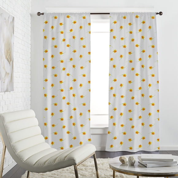 Delicate Narcissus Curtains