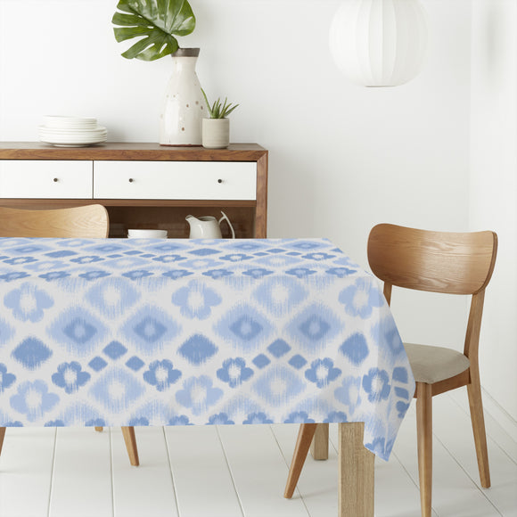 Floral Ikat Rhombuses Rectangle Tablecloths