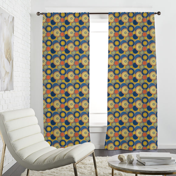 Simple and Colorful Flowers Curtains