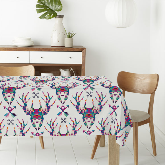 Pixel Deer Head Rectangle Tablecloths