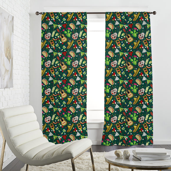 Mexican Powermix Curtains