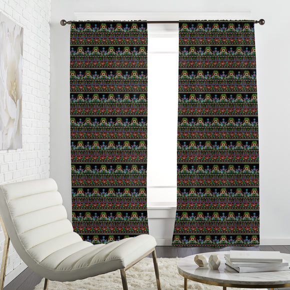 Traditional Hungarian Folk embroidery Curtains