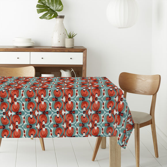 Fiery Ikat Rectangle Tablecloths