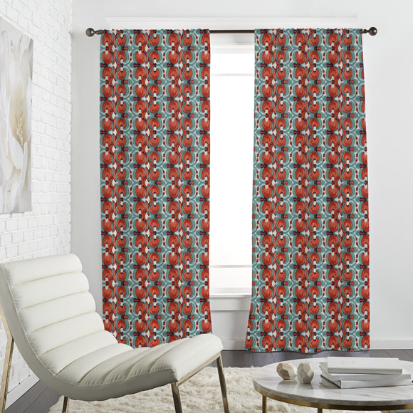 Fiery Ikat Curtains