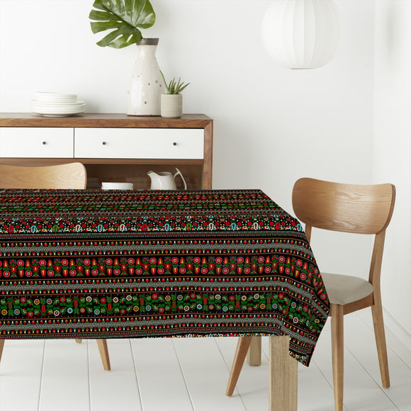 Hungarian Folk Embroidery Rectangle Tablecloths