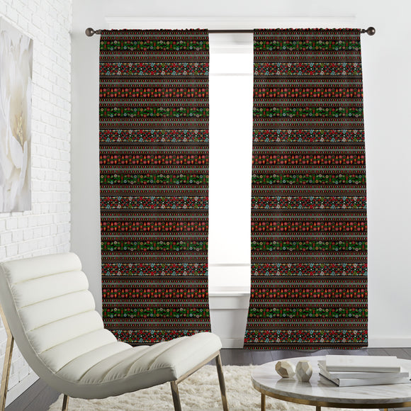 Hungarian Folk Embroidery Curtains