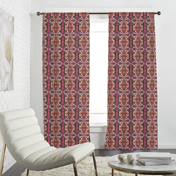 Abstract Ikat Curtains