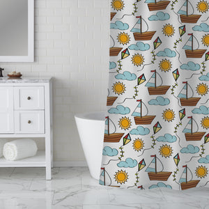Wind Players Shower Curtain