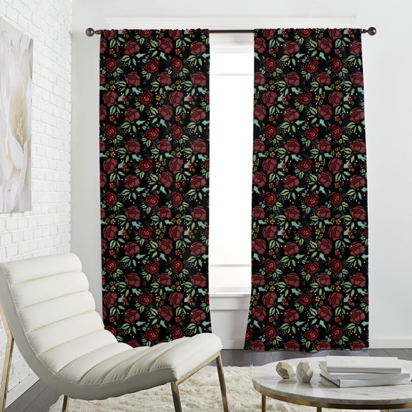 Embroidered Meadow Flowers Curtains