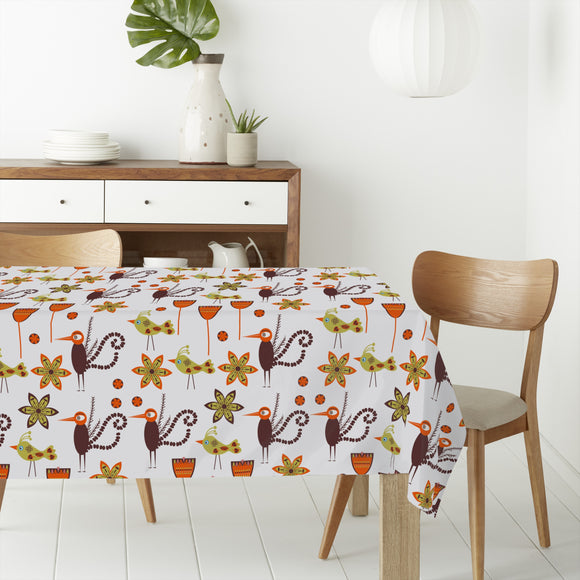 Exotic Eastern Birds Rectangle Tablecloths
