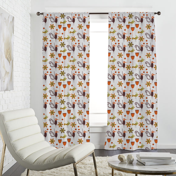 Exotic Eastern Birds Curtains