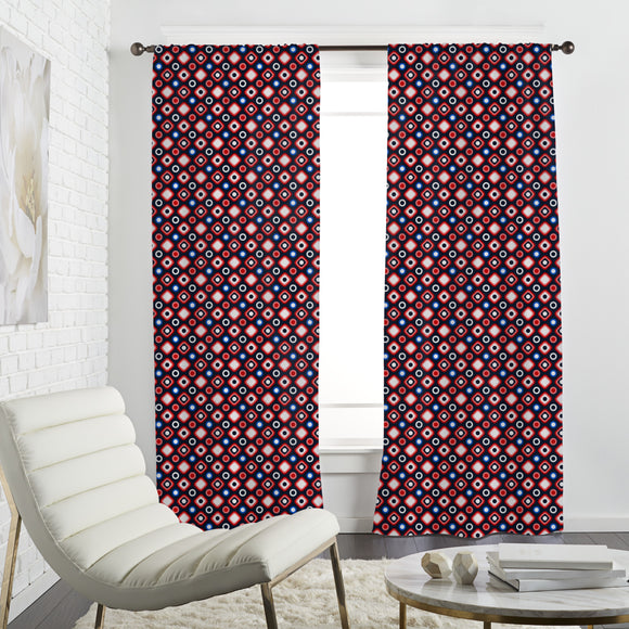 Squares and Circles Curtains