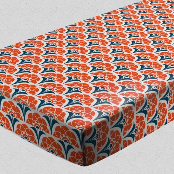 Burning Retro Suns Fitted Sheets