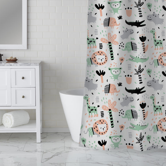 Funny Jungle Shower Curtain