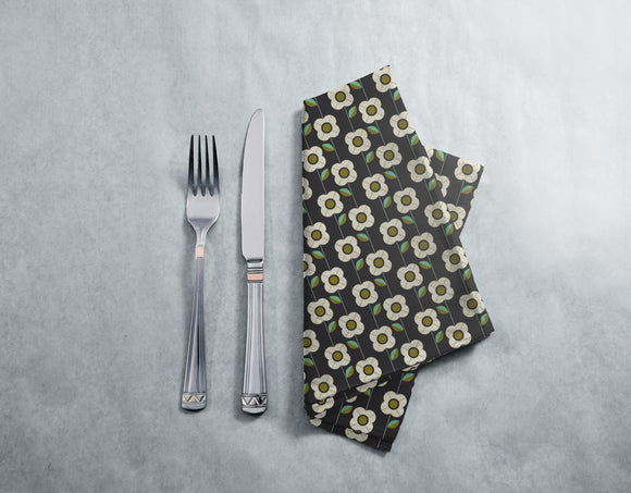 Retro Flowers And Leaves  Napkins