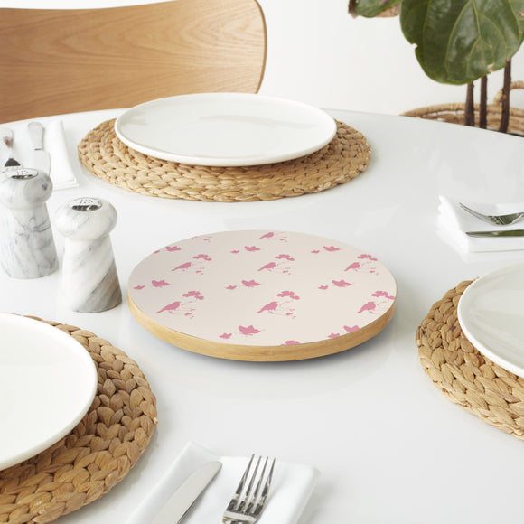 Animals In Spring Pink Lazy Susan