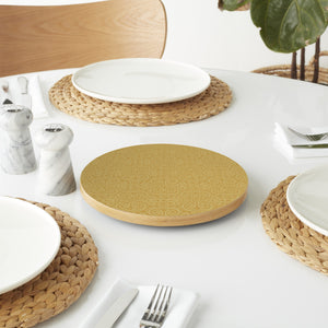 Elegant Lace Pattern in Gold Lazy Susan