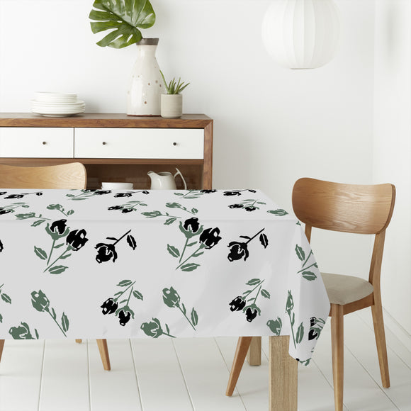 Black Roses Rectangle Tablecloths