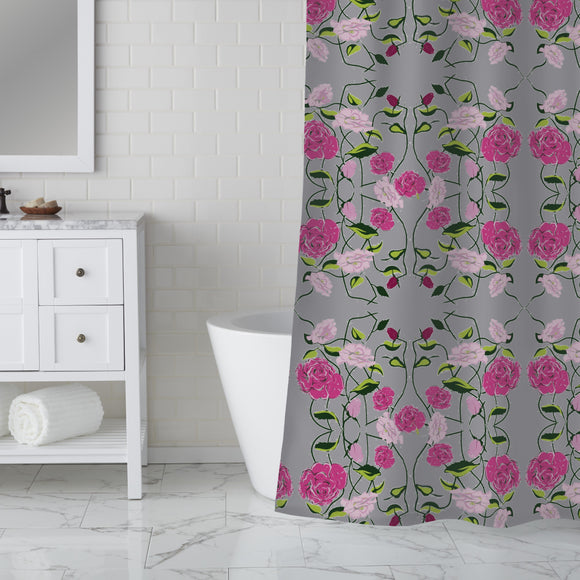 Snow-White And Rose-Red Shower Curtain