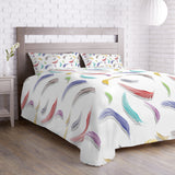 Colorful Feather Pattern Duvet