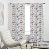 Colorful Feather Pattern Curtains