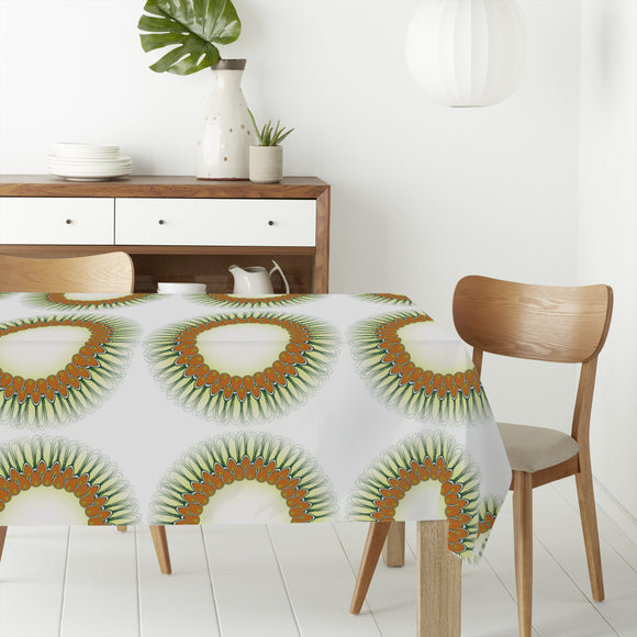 Peacock Feather Mandala Rectangle Tablecloths