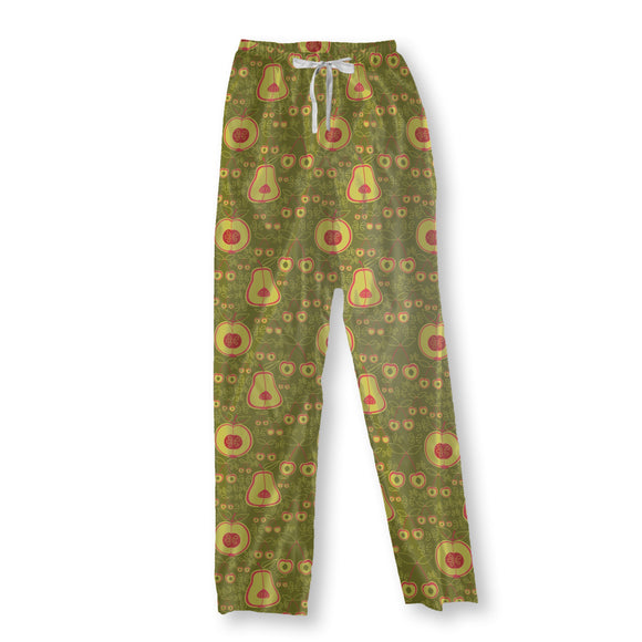 Fruit Garden Green Pajama Pants