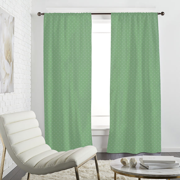 Dots On Green Curtains