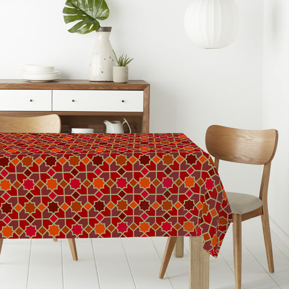 Morocco Red Rectangle Tablecloths