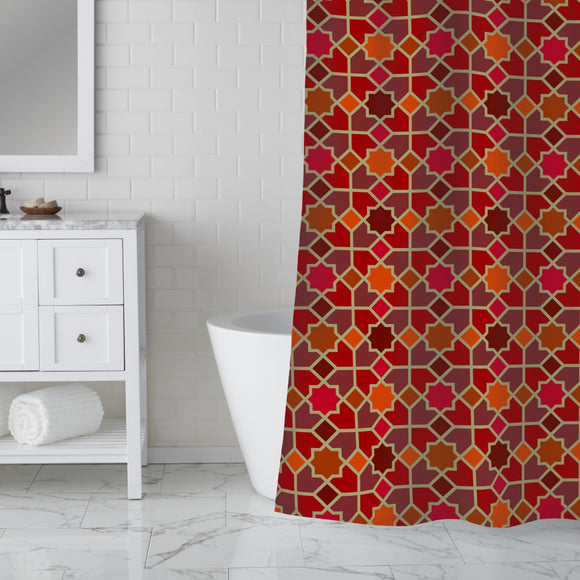 Morocco Red Shower Curtain