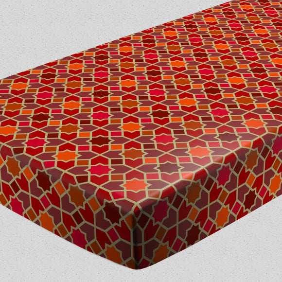 Morocco Red Fitted Sheets