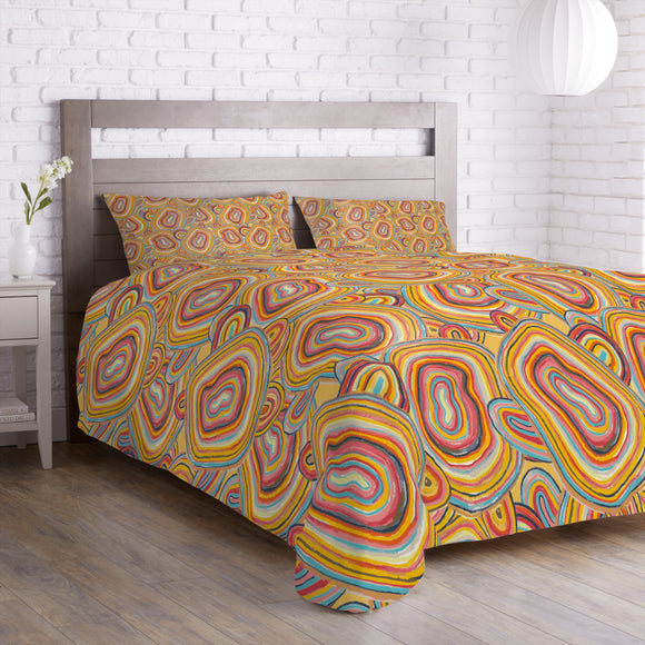 Multicolored Entwined Lines  Duvet
