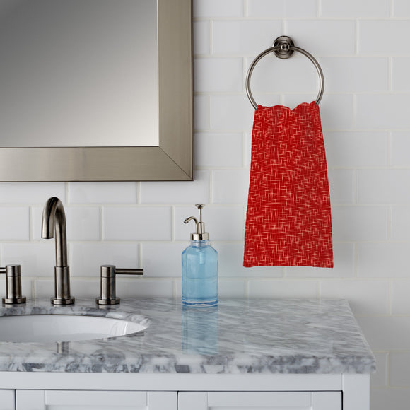 Textus Red Hand Towel