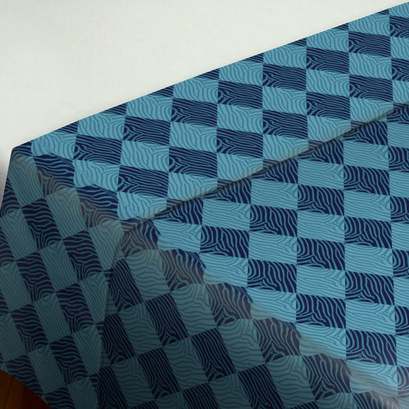 Zebralike Blue Flat Sheets