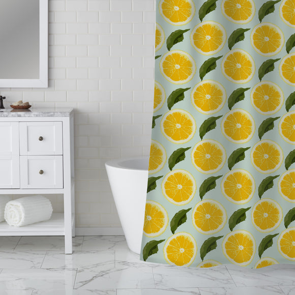 Fresh Lemons Shower Curtain
