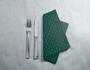 All Over Turquoise Flowers Napkins